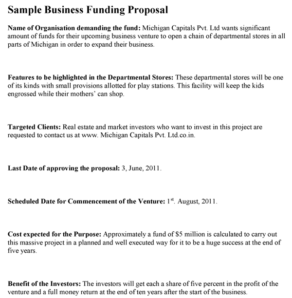 Business Funding Proposal Template