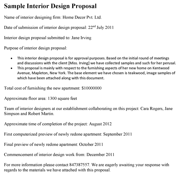 Free Interior Design Proposal Template from www.proposal-samples.com