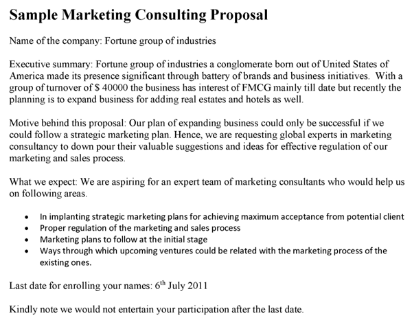 Marketing Consulting Proposal Template