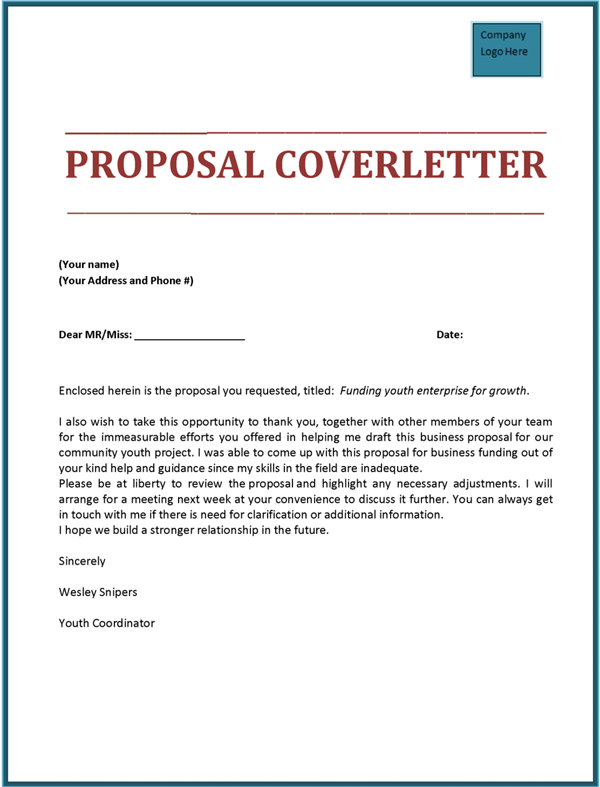 Proposal Cover Letter Template from www.proposal-samples.com