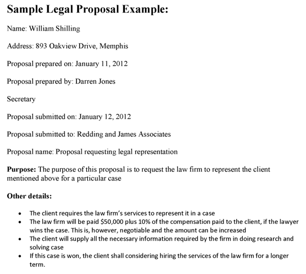 Sample Legal Proposal Template