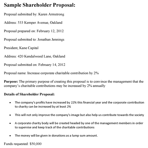 Shareholder Proposal Template