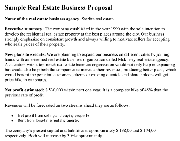 How to write a proposal for real estate
