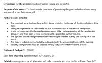 Fashion Event Proposal