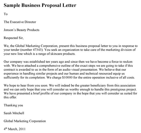 Sample Business Proposal Letter